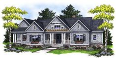 Southern Style House Plans - 2551 Square Foot Home, 1 Story, 2 Bedroom and 2 3 Bath, 3 Garage Stalls by Monster House Plans - Plan 7-758