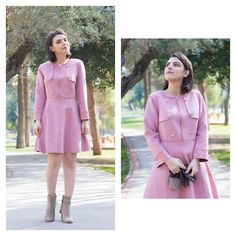 Get this look: http://lb.nu/look/8624899  More looks by Emel Acar: http://lb.nu/pemberuj  Items in this look:  Metisu Dress   #chic #elegant #romantic #pink #dress #ladylike #suede #winter #fall