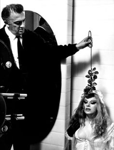 federico fellini and Sandra Milo, on the set of 8 1/2