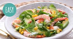 Whip up this salad in a matter of minutes!   #seafood #summersalad #easyrecipes