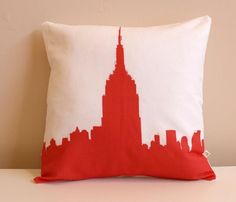 Empire State Pillow. Disclaimer: Not to scale.