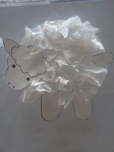 "Lambs we made in preschool for ""L"" week! Coffee filters is the ""hair"""