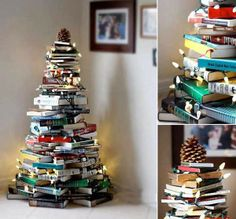 DIY Xmas decoration for book lovers