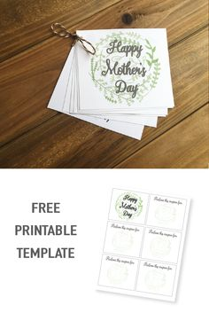 DIY printable Mother's Day Coupon Booklet- FREE template!