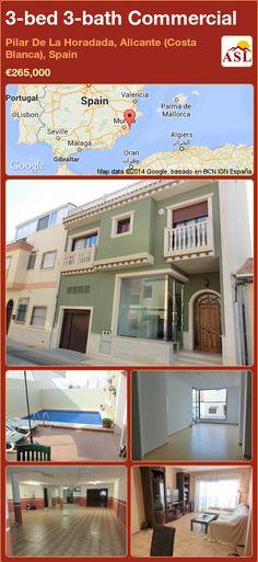 3-bed 3-bath Commercial in Pilar De La Horadada, Alicante (Costa Blanca), Spain ►€265,000 #PropertyForSaleInSpain