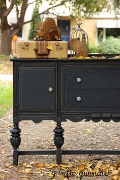 Fusion Mineral Paint midnight blue by Q is for Quandie Teal Painted Furniture, Painted Sideboard, Chalk Paint Furniture, Recycled Furniture, Furniture Projects, Furniture Makeover, Vintage Furniture, Bedroom Furniture, Furniture Plans
