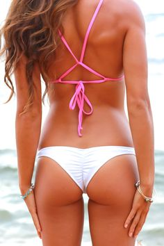 KaiKini Bikinis - White *Kai* Cheeky Thin Side Bikini Bottoms, $54.00 (http://www.kaikini.com/white-kai-cheeky-thin-side-bikini-bottoms/)