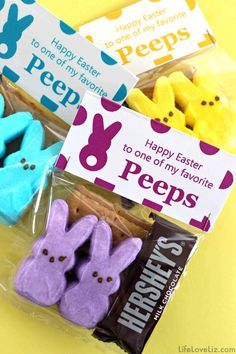 SMore Peeps Treat Bags Free Printables for Easter Easter clipart ideas