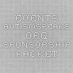 events.autismspeaks.org SPONSORSHIP PACKET