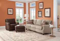Shop for Smith Brothers Sofa, and other Living Room Sofas at Cherry House Furniture in LaGrange, KY. Comfort Wrinkles are Designed to Appear in This Style to Enhance the Exceptionally Soft Feel of the Seat and Back Cushions. Country Furniture, Home Furniture, Furniture Design, Furniture Ideas, Living Room Sets, Living Room Designs, Home Trends, Beautiful Living Rooms, Quality Furniture