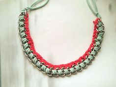 Can't afford Lanvin: DIY How to make a braid necklace