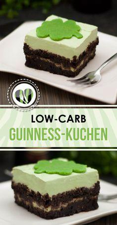 Der Guinness-Kuchen ist lecker, low-carb und schwarz grün. Der perfekte Kuchen für ernährungsbewusste Irland fans.