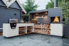 Modern Outdoor Kitchen, Backyard Kitchen, Outdoor Kitchens, Backyard Bbq, Summer Kitchen, Kitchen Gardening, Backyard Chickens, Modern Farmhouse, Ideas Terraza