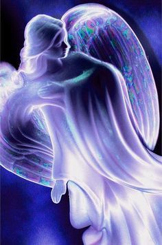 Purple Angel - reminds me of the Violet Flame to assist with all our desired changes for our life. Always there to help us by gently transmuting the old and making energetic space for the new to come in! Thank you Violet Flame Angels! Purple Love, All Things Purple, Purple Rain, Purple Glass, Light Purple, Image Beautiful, I Believe In Angels, Angels Among Us, Angel Pictures