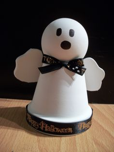 Clay Pot Halloween Ghost. $8.50, via Etsy.