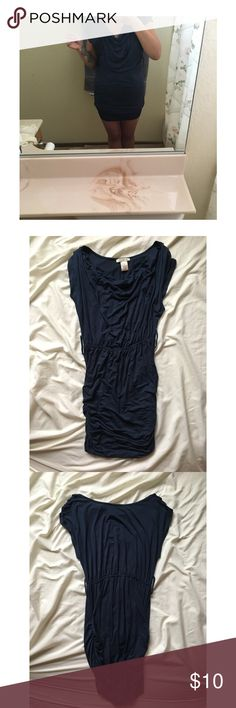Arden B Dress Arden B navy dress, cowl neck style, never personally worn by me, just to try on. 10/10 condition. Has belt hoops for a waist belt! Arden B Dresses