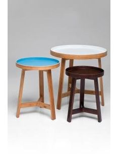 KARE Design Airy Side Table, Set of 3, Multi-Colour