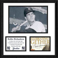3x World Series Champ Bobby Richardson Autograph and Yankees Photo