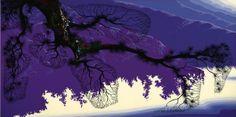 Purple Coastline, by Eyvind Earle, 1996