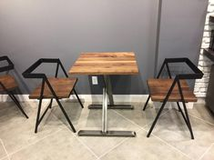X Frame Bistro Restaurant Table with Black Walnut Ash Maple