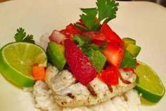 Gluten-Free Grilled Halibut with Strawberry Cilantro Salsa: http://glutenfreerecipebox.com/gluten-free-grilled-halibut-with-strawberry-cilantro-salsa/