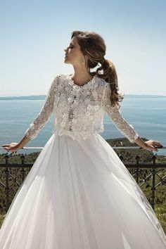 The FashionBrides is the largest online directory dedicated to bridal designers and wedding gowns. Find the gown you always dreamed for a fairy tale wedding. Gowns With Sleeves, Bridal Collection, Beautiful Dresses, Wedding Gowns, Bride, Lace, Long Sleeve, Amazing, Fashion