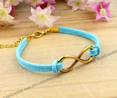 Golden infinity bracelet charm bracelet  light by superbracelet, $1.99