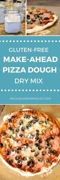 Learn how to create gluten-free make-ahead pizza dough dry mixes for an easy din. Learn how to create gluten-free make-ahead pizza dough dry mixes for an easy dinner that you can feel good about. Click through to read the full post. Gluten Free Diet Plan, Lactose Free Diet, Healthy Gluten Free Recipes, Foods With Gluten, Gluten Free Cooking, Healthy Food, Dairy Free Dips, Dairy Free Pizza, Pan Sin Gluten
