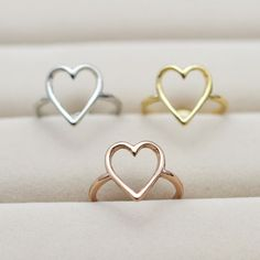 New Fashion jewelry heart finger ring for women ladie's   R815 $1.88