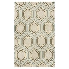 Add a pop of pattern to your living room seating group or master suite ensemble with this artfully hand-tufted rug, showcasing a quatrefoil-inspired trellis ...