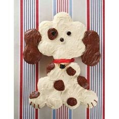 Dog theme cupcake cake