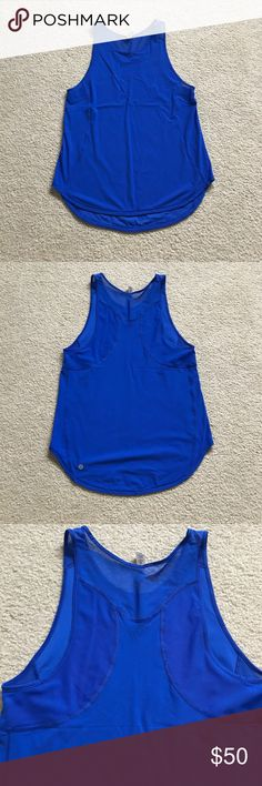 NWOT Lululemon Cerulean Blue Sculpt Tank II SZ 6 New Without Tags Lululemon Sculpt Tank II in Cerulean Blue. Lightweight relaxed fit tank with breezy mesh accents. Love the color (no longer available in stores) unfortunately it's just a bit looser fit than I like for my workouts so sadly it's never been worn. Partial rip tag still intact. Size 6. Price firm unless bundled with another item. lululemon athletica Tops Tank Tops