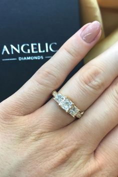 A trilogy engagement ring is a wonderful way to prove your love will stand the test of time. This diamond engagement ring is a fantastic choice for women with style and class.