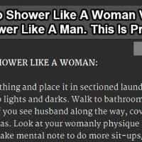 What men and women usually do during their shower? --This is Epic. LOL!