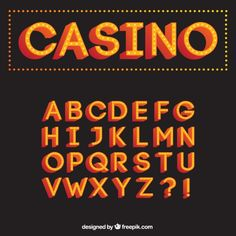 Casino typography Free Vector
