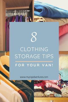 It goes without saying that storage space is prime real estate in a van. If you're anything like me, you don't like to compromise style while you're travelling, so you still need to be able to pack all of the clothes that you want. Here are our top tips for clothing storage and organisation in a caravan, van, motorhome or RV. #clothing #storage #van #rv #caravan