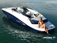 SeaDoo Jet Boat. We should trade the barbie boat in for this one!