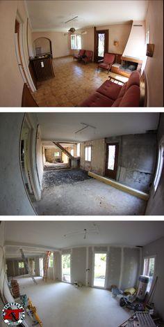 Ouverture et isolation des murs puis pose des nouveaux ouvrants !