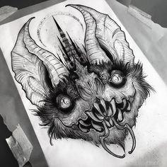 50 best elephant tattoo designs and Ideas Tattoo Designs, Tattoo Design Drawings, Tattoo Sketches, Art Sketches, Satanic Tattoos, Satanic Art, Demon Tattoo, Dark Tattoo, Geometric Tatto