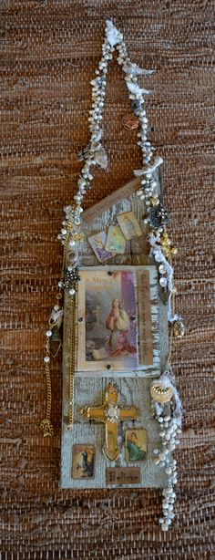 Mary Magdalene- Old barn wood wall Shrine- By: Cuban Artist- Lazaro Iglesias... Inquire for price-SOLD