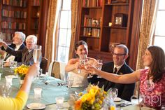 Julia & Scott: Mini wedding celebration -- Many toasts from moms and dad to brothers and friends