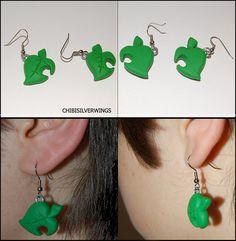 Animal Crossing Leaf Earrings