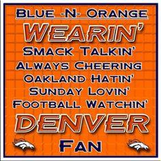 Denver Fan for life! Denver Broncos Images, Denver Broncos Tattoo, Denver Broncos Players, Broncos Pictures, Nfl Broncos, Denver Broncos Football, Football Memes, Football Season, Sport Football