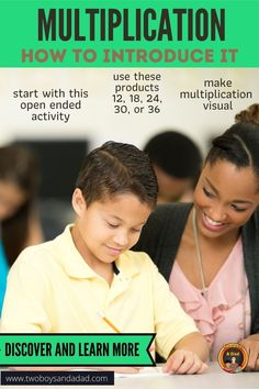 How are you introducing multiplication to 3rd graders? How about teaching multiplication with an activity that has an entry point for all students? It involves using these numbers: 12, 18, 24, 30 and 36? Why those numbers? Discover and learn more with this informative blog post on how your students can be successful with learning the concept of multiplication. #twoboysandadad #multiplication Teaching Multiplication Facts, Multiplication Strategies, Math Strategies, Math Resources, Teaching Math, Math Tips, Problem Solving Activities, Math Games, Math Workshop