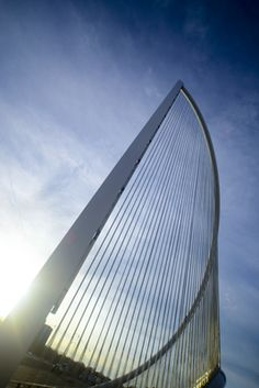 Over 2000 Ronstan balustrade cables make up the fill in four sail sculptures on the Burns Bridge in Worcester Massachusetts Tensile Structures, Elevation Drawing, Architectural Engineering, Bridge Design, Stainless Steel Cable, Aesthetic Design, Worcester, Beautiful Architecture, Sustainable Design