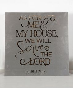 Another great find on #zulily! Joshua 24:15 Metal Sign #zulilyfinds