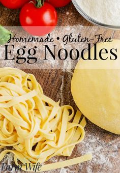 These gluten-free egg noodles are the best! So easy to make – fresh is really best! These gluten-free egg noodles are the best! So easy to make – fresh is really best! Gluten Free Cooking, Dairy Free Recipes, Healthy Recipes, Eating Gluten Free, Gluten Free Sweets, Gluten Free Dinners Easy, Wheat Free Recipes, Gf Recipes, Tarte Vegan