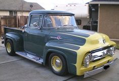 1956 Ford Big Window Pick-Up. Hot Rod Trucks, New Trucks, Custom Trucks, Cool Trucks, Defender 90, Land Rover Defender, Vintage Pickup Trucks, Ford Pickup Trucks, Classic Chevy Trucks