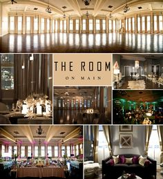 The Room on Main wedding reception venue in downtown Dallas. Multiple floor plans.  Wedding Wishes DFW Wedding Guide.