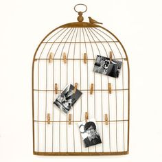 World Market large alaina bird cage wall frame Clothes Pin Frame, Contemporary Frames, Picture Holders, Affordable Home Decor, World Market, Room Themes, Bird Cage, Cool Lighting, Frames On Wall